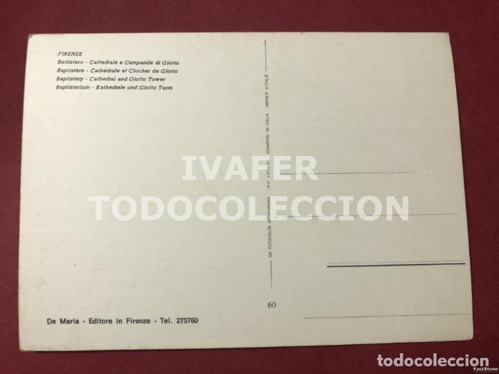 Postales: POSTAL FLORENCIA, BATISTERIO, CATEDRAL Y CAMPANARIO, AÑOS 70 - Foto 2 - 254462645