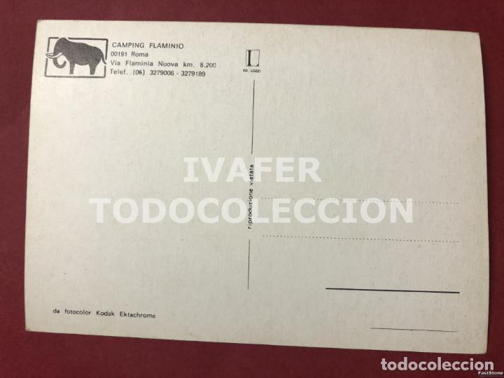 Postales: POSTAL CAMPING FLAMINIO, ROMA, AÑOS 70 - Foto 2 - 254462800