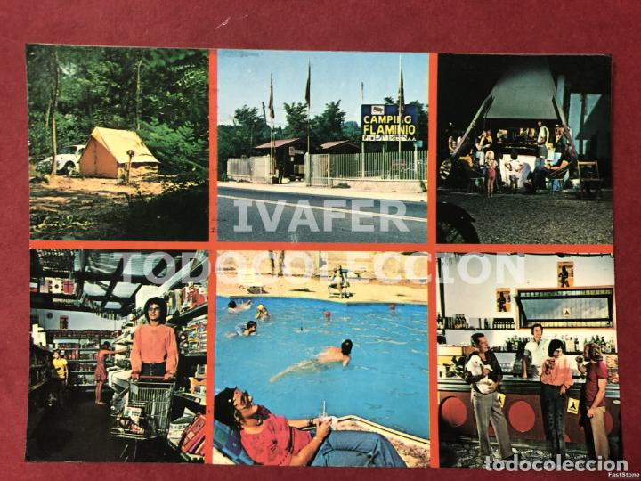 POSTAL CAMPING FLAMINIO, ROMA, AÑOS 70 (Postales - Postales Extranjero - Europa)