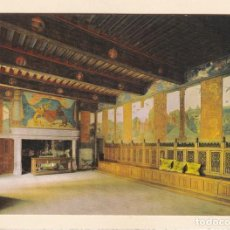 Postales: POSTAL CASTILLO DE ISSOGNE. SALA BARONALE. VALLE DE AOSTA (ITALIA). Lote 254611525
