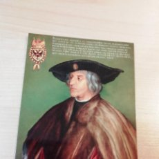 Postales: POSTAL HOFMUSIKKAPELLE HOFBURGKAPELLE MAXIMILIANO I (SEGÚN DURERO) VIENA AUSTRIA ALI MEYER DURCKWERE. Lote 254631905