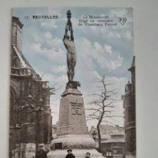 Postales: TARJETA POSTAL BRUXELLES BRUSELAS BELGICA MONUMENT ERIGE EN MEMOIRE FRANCISCO FERRER SCHEERS. Lote 254700650