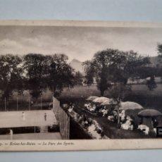 Postales: TARJETA POSTAL EVIAN LES BAINS FRANCIA LE PARC DES SPORTS SELLADA EN 1910. Lote 254700860