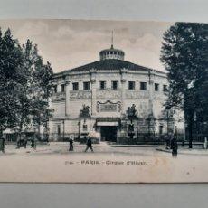 Postales: TARJETA POSTAL PARIS FRANCIA CIRQUE D´HIVER DORSO SIN DIVIDIR. Lote 254701180