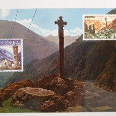 Postales: ANDORRA - CREU GÒTICA DE MERITXELL - P49995. Lote 254989450