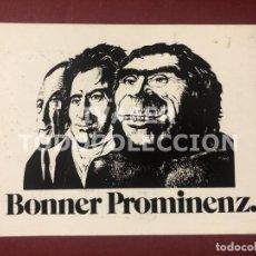 Postales: POSTAL HOMBRE DEL NEANDERTAL ENTRE OTRAS DOS CELEBRIDADES DE LA CIUDAD DE BONN, ALEMANIA,. Lote 255023825