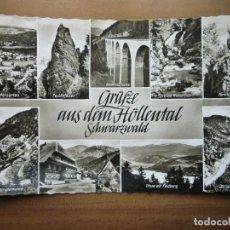 Postales: POSTAL DE ALEMANIA, SCHWARZWALD, GRÜZE AUS DEM HÖLLENTAL. AÑOS 60. NUEVA. Lote 255625295