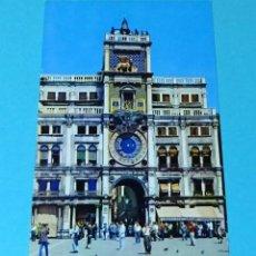 Postales: POSTAL FOTOGRÁFICA TORRE DEL RELOJ. VENECIA. Lote 256621590