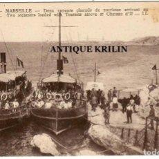 Postales: MARSEILLE Nº 2 DEUX VAPEURS CHARGES DE TOURISTES CHATEAU D'IF / EDITION LL.. Lote 257472245