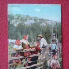 Postales: POST CARD POSTKARTE CARTE POSTALE LEKSAND SUECIA SWEDEN SVERIGE TRAJES TÍPICOS JÓVENES NIÑOS BOYS.... Lote 259897140