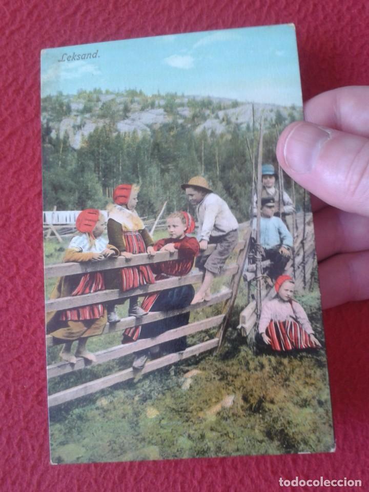 Postales: POST CARD POSTKARTE CARTE POSTALE LEKSAND SUECIA SWEDEN SVERIGE TRAJES TÍPICOS JÓVENES NIÑOS BOYS... - Foto 3 - 259897140