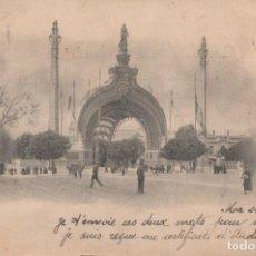 Postales: POSTAL PARIS - EXPOSITION UNIVERSALLE 1900 - PORTE MONUMENTALE - CIRCULADA SIN DIVIDIR. Lote 260323920