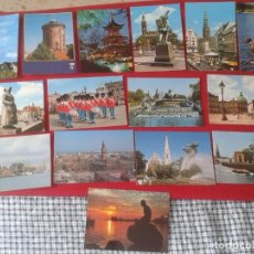 Postales: LOTE DE 15 POST CARDS CARTES POSTALES DINAMARCA DENMARK DANMARK COPENHAGUE COPENHAGEN KOBENHAVN..LOT. Lote 260799470