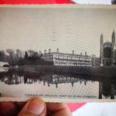 Postales: POSTAL CAMBRIDGE KING'S CLARET VILLEGAS FROM THE RIVER 1960 ESCRITA Y BELLAMENTE SELLADA. Lote 261111050