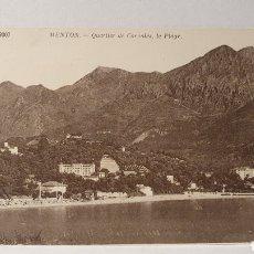 Postales: MENTON/ ORIGINAL DE ÉPOCA/ SIN CIRCULAR /(D.257). Lote 261639095