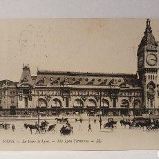 Postales: PARIS/ LA GARE DE LYON/ ORIGINAL DE ÉPOCA/ CIRCULADA /(D.257). Lote 261640285