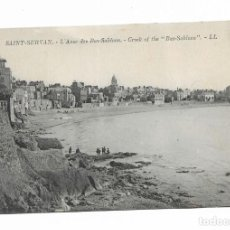 Postales: POSTAL ANTIGUA- 80- SAINT SERVAN- L' ANSE DES BAS SABLONS - CREEK OF THE. Lote 262076145