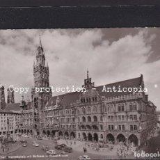 Postales: POSTAL DE ALEMANIA - MÜNCHEN, MARIENPLATZ MIT RATHAUS U. FRAUENKIRCHE. Lote 262078600