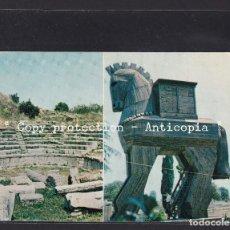 Postales: POSTAL DE TURQUIA - CANAKKALE - TÜRKIYE WOODEN HORSE THE THEATRE. Lote 262079345