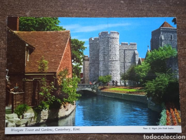 POSTAL WESTGATE TOWER AND GARDENIA, CANTERBURY, KENT. SIN CIRCULAR. (Postales - Postales Extranjero - Europa)