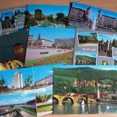 Postales: LOTE 8 POSTALES ALEMANIA OCCIDENTAL, A COLOR SIN USAR. BADEN-WURTEMBERG MANNHEIM HEIDELBERG RFA. Lote 262877990