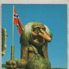 Postales: POSTAL DE NORWAY NORGE - NORUEGA - FJELLTROLLET THE MOUNTAIN TROLL. Lote 263008560