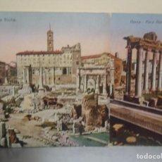 Postales: ROMA - LOTE DE DOS POSTALES DIFERENTES DEL FORO ROMANO. Lote 263067890