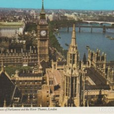 Postales: LONDRES. GRAN BRETAÑA. BIG BEN, THE HOUSES OF PARLIAMENT AND THE RIVER TAMES. Lote 263075335