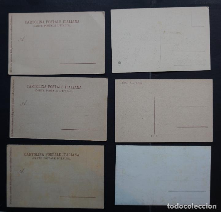 Postales: 6 antiguas postales de Roma sin circular , ver fotos reverso - Foto 2 - 265542414