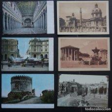 Postales: 6 ANTIGUAS POSTALES DE ROMA SIN CIRCULAR , VER FOTOS REVERSO. Lote 265542414