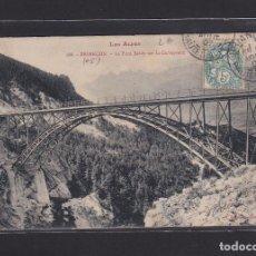 Postales: POSTAL DE FRANCIA - LES ALPES 166. BRIANÇON. LE PONT BALDY SUR LA CERVEYRETTE - 05 HAUTES ALPES. Lote 268949469