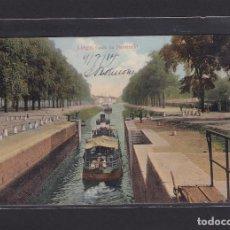 Postales: POSTAL DE BELGICA - LIÈGE, CANAL DE MAESTRICHT 1914 - LIEGE BELGIQUE. Lote 268949579
