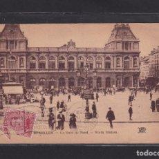 Postales: POSTAL DE BELGICA - BRUXELLES. - LA GARE DU NORD. - NORTH STATION. 1920 - BRUXELLES BELGIQUE. Lote 268949909