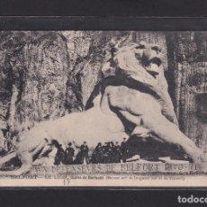 Postales: POSTAL DE FRANCIA - BELFORT - LE LION (EUVRE DE BARTHOLDI) - 90 TERRIROIRE DE BELFORT FRANCE. Lote 268949999