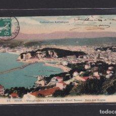 Postales: POSTAL DE FRANCIA - COLLECTION ARTISTIQUE 35. NICE. - VUE GÉNÉRALE - VUE PRISE DU MONT BORON - BAIE. Lote 268950079