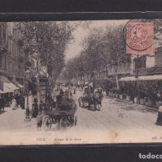 Postales: POSTAL DE FRANCIA - 369 NICE. - AVENUE DE LA GARE 1905 - 06 ALPES MARITIMES FRANCE. Lote 268950309