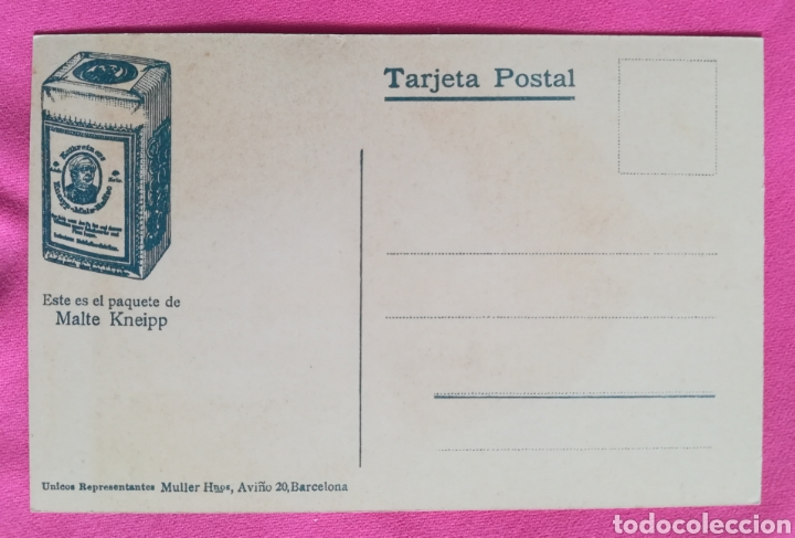 Postales: POSTAL - Prelado Sebastián kneipp, inventor del Malte Kneipp - MALTE KNEIPP - Foto 2 - 269003594