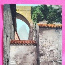 Postales: MONSERRAT, BARCELONA - CALLEJÓN LATERAL DE LA IGLESIA - SIN CIRCULAR - PURGER & CO, MÜNCHEN. Lote 269005289