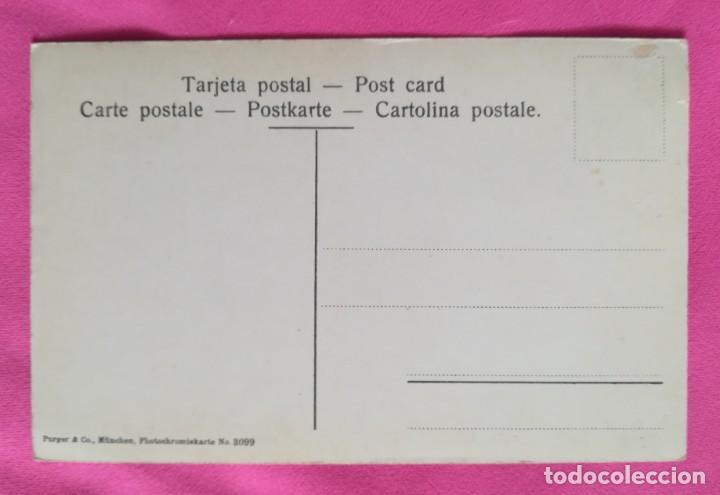 Postales: MONSERRAT, BARCELONA - Callejón lateral de la iglesia - SIN CIRCULAR - PURGER & CO, MÜNCHEN - Foto 2 - 269005289