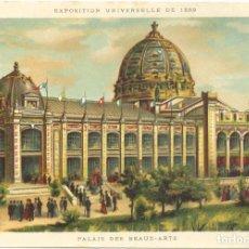 Postales: CROMOLITOGRAFIA. PARIS 1889 EXPOSICION UNIVERSELLE. PALAIS DES BEAUX ARTS. Lote 269167593