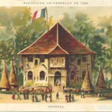 Postales: CROMOLITOGRAFIA. PARIS 1889 EXPOSICION UNIVERSELLE. SENEGAL. Lote 269167613