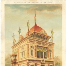 Postales: CROMOLITOGRAFIA. PARIS 1889 EXPOSICION UNIVERSELLE. SALVADOR.. Lote 269167883