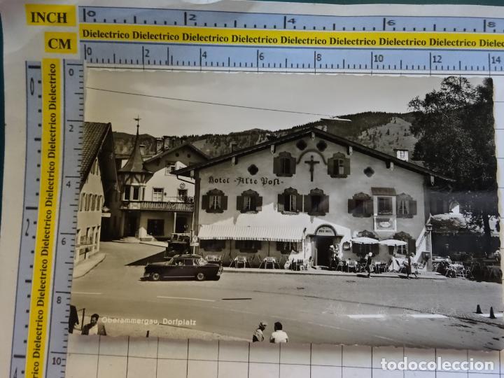 POSTAL DE ALEMANIA. OBERAMMERGAU DORFPLATZ HOTEL ALTE POST. 410 (Postales - Postales Extranjero - Europa)