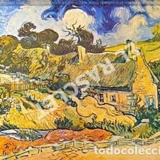 Postales: ANTIGUA POSTAL - VIVENT VAN GOGH - THATCHED ROOFS AT CORDEVILLE -. Lote 270257788