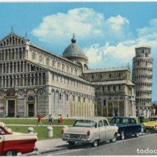 Postais: EX055 ITALIA PISA LA CATEDRALE ED GS FORD CUSTOM 4D '57, FORD CONSUL MK2 , CITROËN DS, PEUGEOT 403. Lote 271112783