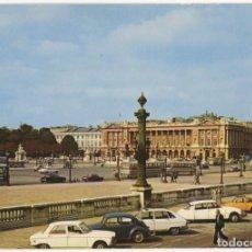 Postais: EX065 FRANCIA PARIS PLACE DE LA CONCORDE ED MACON CITROEN DS R6 FIAT 600 PEUGEOT. Lote 271373133
