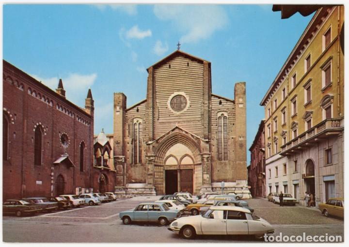 EX067 ITALIA VERONA CHIESA DE S.ANASTASIA ED RANDAZZO CITROEN DS (Postales - Postales Extranjero - Europa)