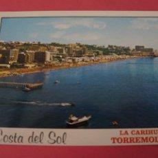 Postales: POSTAL SIN CIRCULAR DE TORREMOLINOS PLAYA DE LA CARIHUELA MALAGA LOTE 40. Lote 271537438
