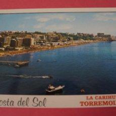 Postales: POSTAL SIN CIRCULAR DE PLAYA DE LA CARIHUELA TORREMOLINOS MALAGA LOTE 41. Lote 271538908