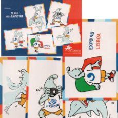 Postales: COLECCION DE 6 POSTALES CON SU SOBRE DE PLASTICO. O GIL NA EXPO 98 LISBOA. CTT CORREOS.. Lote 271561953